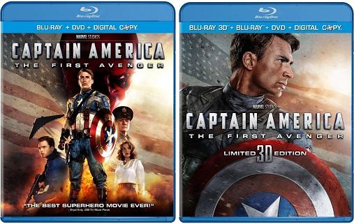 """Divulgado a capa do Blu-ray de """"Capitão América: O Primeiro Vingador"""""""