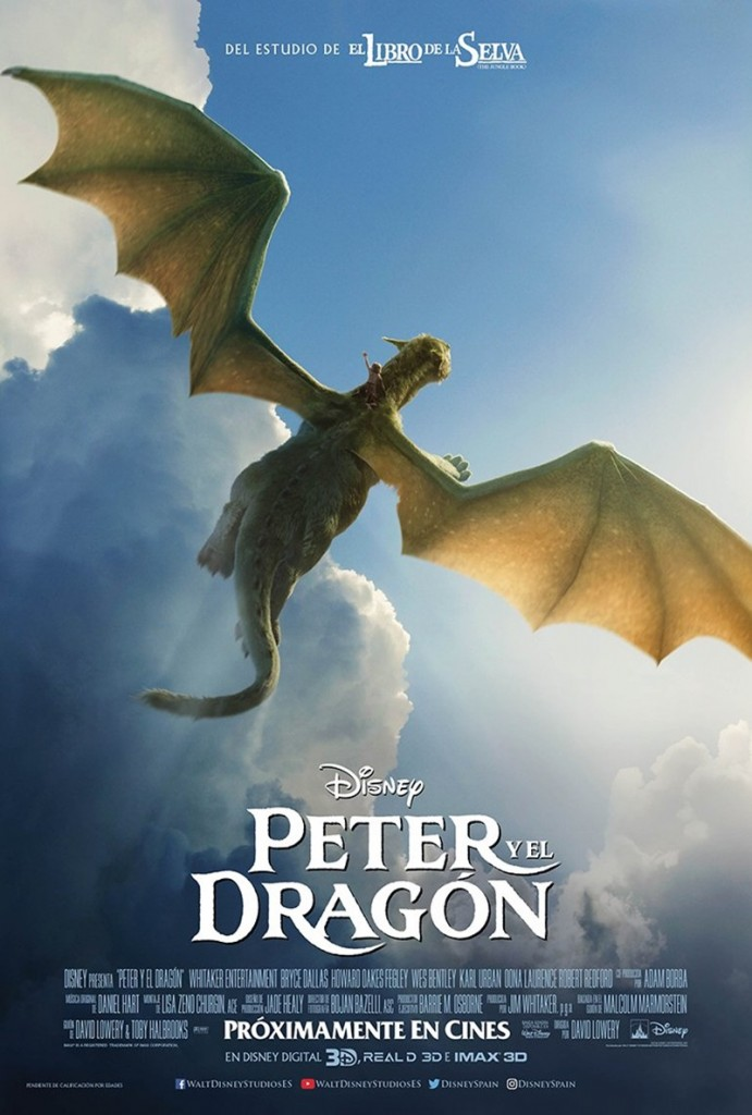Petes-Dragon-New-Poster-Flying-in-the-sky